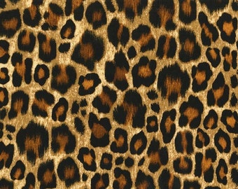 Show Your Skin- CX6923-Amber -  Leopard Skin Print - by Michael Miller-    1 Yard