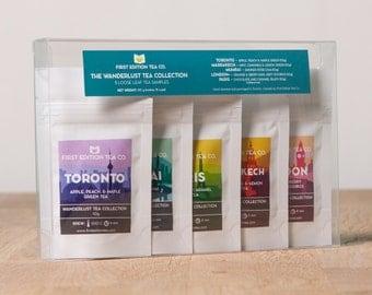 The Wanderlust Tea Collection - Gift for Tea Lover - Tea Gift Set - Loose Leaf Tea - 5 x 10g bags