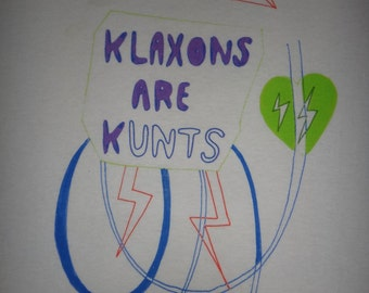 Klaxons Are Kunts T Shirt Indie Rock New Wave 2000s Tee