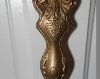 Gold Metal Giant Spoon 70's Wall Decor!