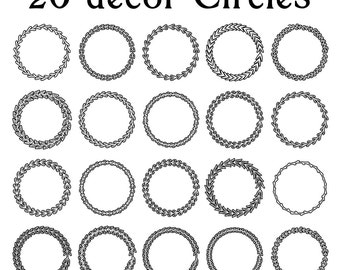 "20 Decor Circles - 300 dpi""  Regular Price 4.99 On Sale Now!"