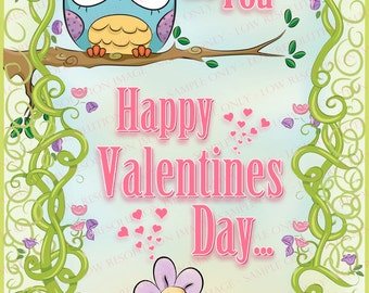 Owl Valentine Smart Phone Wall Paper Smart text, a new way to say hello.