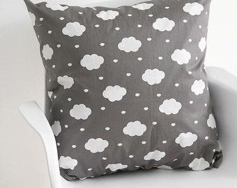 Cloud Pattern Cotton Fabric by Yard (Grey)