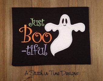 Just Boo-tiful Applique - Machine Embroidery Design Instant Download