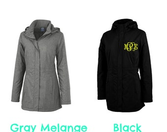 Charles River Journey Parka with monogram women's sizing