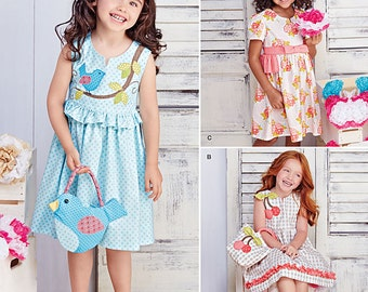 Simplicity Sewing Pattern 8063 Child's Dresses and Purses