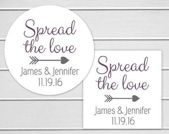Spread The Love Stickers, Jam Sticker, Jam Wedding Favor Stickers, Wedding labels (#248)