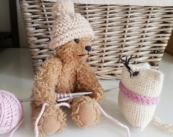 Children's Knitting Kit | Learn to Knit Part 1 | Needles, Yarn, Illustrated Instruction Booklet  | The Little Songbird Knitting Co.