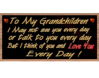 Grandchildren Wood Signs - Handmade Wood sign Grandchildren ,GS2233, Grandchilden Wood sign, Primitive Grandchildren sign handmade