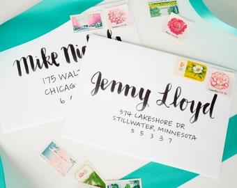 Wedding Envelope Calligraphy | Envelope Addressing | Handwritten Envelope Addressing | Handwritten Calligraphy - MIRANDA STYLE