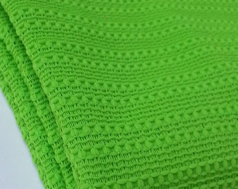 Polyester Lime Green Vintage Fabric