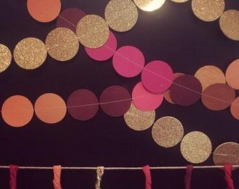 Sewn Circle Banner Garland • Choose your Colors