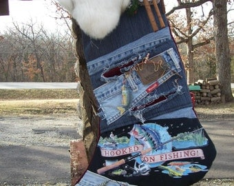 "SOCK'NS ""Hooked on Fishing"" Christmas stocking"