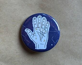 Palmistry Hand Pinback Button