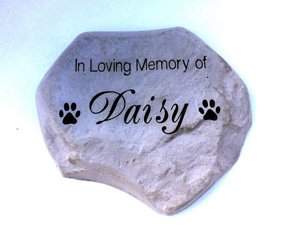 Personalized Garden Stone Pet Memorial Marker Large Heavy Duty