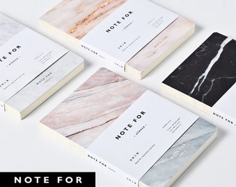 Minimalist Marble Notebook Journal Planners