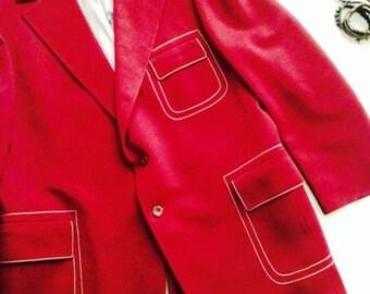 Dapper Vintage Blazer (Maroon)