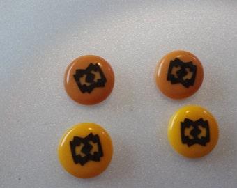 Southwestern Button Style Pierced Earrings
