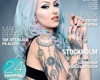MAGAZINE: Scandinavian Tattoo Magazine #145, signed by Shelly d'Inferno