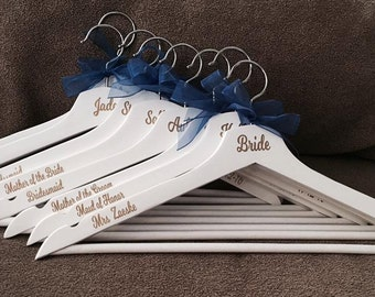 Wood Wedding Hangers, Bridal Party Hangers