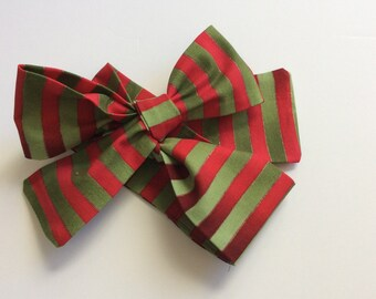 Christmas stripe baby headwrap- green- baby headwrap- christmas