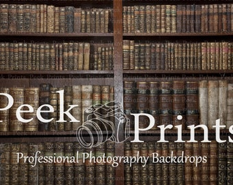 4ft.x3ft. Library Books Vinyl Photography Backdrop - Book Background - SR038