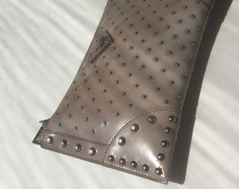 Prada 2010 runway zipper clutch with studs
