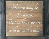 Wedding memorial sign, memorial sign, wedding sign, wood wedding sign