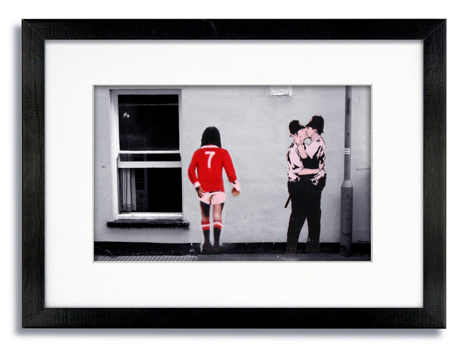 Banksy George Best No 7 And The Kissing Coppers