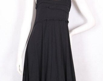 90s vintage summer  black sleeveless dress size S