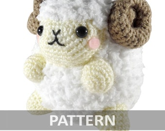 PATTERN Fluffy Ram Amigurumi Crochet Plush PDF