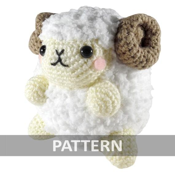 PATTERN Fluffy Ram Amigurumi Crochet Plush PDF