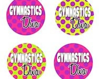 Gymnastics Edible Cupcake Topper Decorations - Set of 12 Toppers