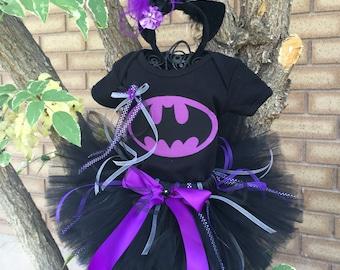 Batgirl Batman inspired Tutu Any Color Girls Newborn 0 3 6 9 12 months 2T-7T Adult available Bat Girl Bat Man Princess Halloween Costume