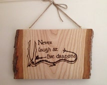 Bilbo Baggins quote burned onto barked ash wood. Home decor, wall hanging, unusual gift. Tolkien fan, the hobbit.