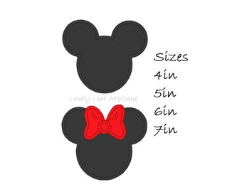 DIGITAL ITEM: Mouse Ears Boy and Girl in 4 SIZES