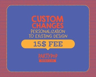 Custom personalization to existing listing