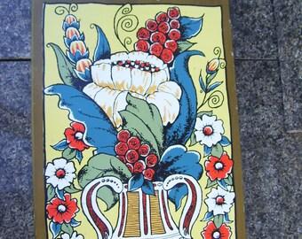 "Berggren Scandinavian"" Give Us Our Daily Bread"" Board, Cutting Board, Decorative Board,Folk Art,1971, Berggren Trayner Corp"