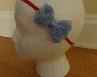 Rose Bow Organza Headband