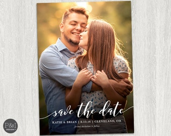 Save the Date Photo Invitation / DIY / Postcard / Customized Printable (5x7)