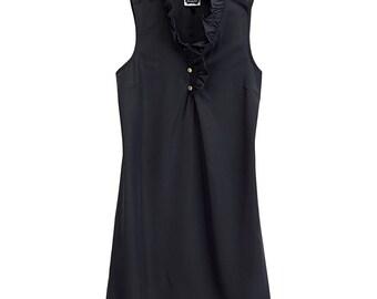 Sleeveles Black Ruffle Dress by Mud Pie/Monogram it!