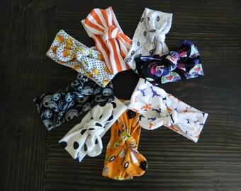 Halloween Knot Headband, Baby Headband, Top Knot Headband, Baby Turban, Headband, Cotton Headband, Knot Headband, Candy Corn Headband