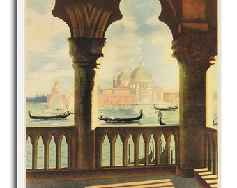 Travel Poster Venice Italy Art Canvas Print Hanging Wall Decor xr653
