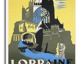 Lorraine France Travel Poster French Vintage Art Canvas Print Hanging Retro Wall Decor xr842