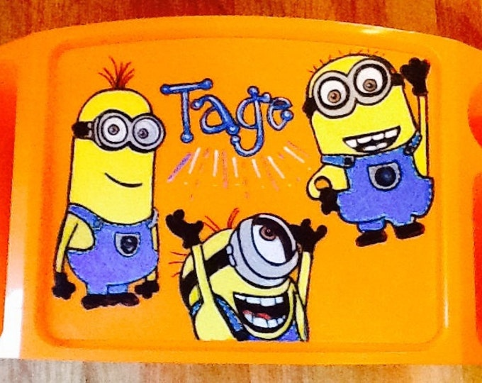 Minion activity tray, disney activity tray, disney minion tray, disney art tray, disney lap tray, disney tv tray, disney tray, minions tray