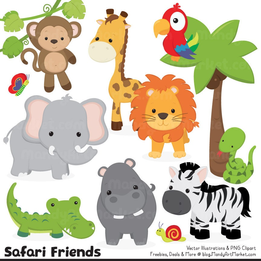 It is a picture of Ridiculous Free Printable Jungle Animals