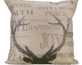 Deer Inscription - Pillow Cover