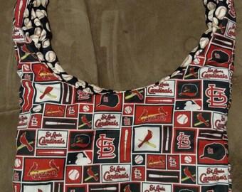 Cardinals hobo bag, cross body bag, carrier bag, gifts for her, gifts for him, birthday gift, baseball bag, Christmas gifts, stadium bag