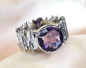 Amethyst Stone RIng, Amethyst Ring, Amethyst Gemstone, Women Ring, 925 SIlver Ring, Sterling Silver Ring, Women Gift Idea,Designer Ring