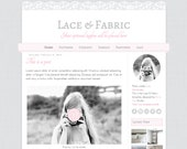 Pretty Blogger Template. Lace & fabric. Responsive theme for Blogger. Premade blog design. Cute template with soft cloth and lace textures